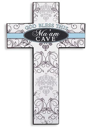 Ma'am Cave™ Cross — God Bless  - 3/pk