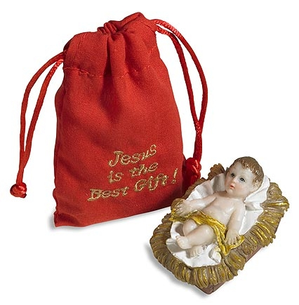 Infant Jesus with Gift Bag - 6/pk