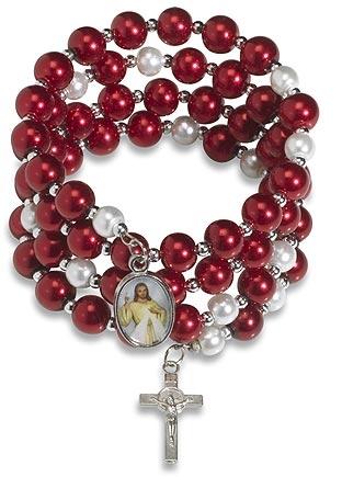 Divine Mercy Wrap Rosary Bracelet - 12/pk