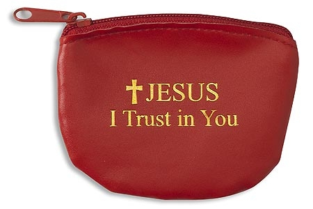 Jesus I Trust In You Rosary Case - 12/pk