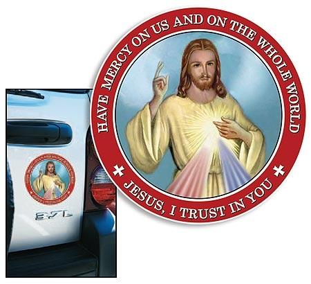 Divine Mercy Auto Magnet - 24/pk