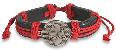 Sacred Heart Leather Bracelet - 12/pk