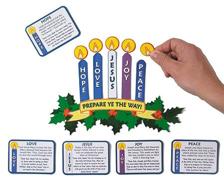 Magnetic Learning Advent Wreath Set - 12 sets/pk