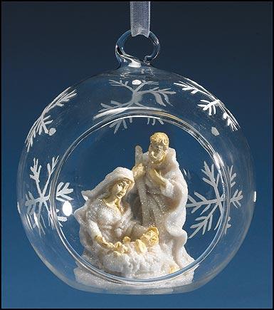 Christmas Nativity Ball Ornament