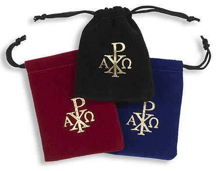 Rosary Drawstring Bag Assortment (3 Asst) - 24/pk