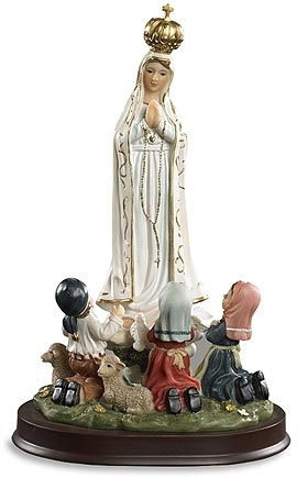 Our Lady of Fatima with Children Statue
