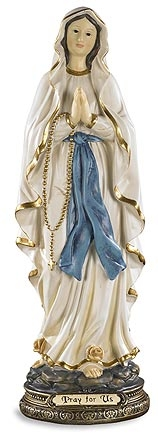 "12"" Our Lady of Lourdes Statue"