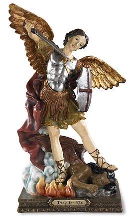 "12"" St. Michael Statue"