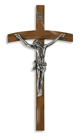 Papal Wood Wall Crucifix - 2/pk