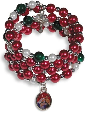 Nativity Wrap Rosary Bracelet - 12/pk