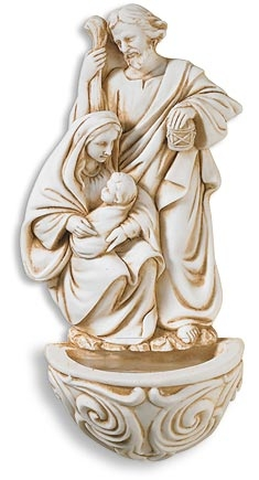 Holy Family Holy Water Font - 6/pk