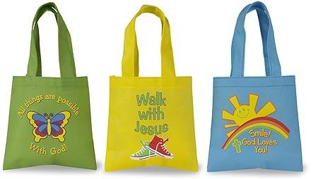 Children's Tote Bag Assortment (3 Asst) - 36/pk