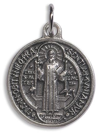 "St. Benedict Medals Round -3/4"" - 12/pk"