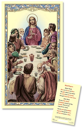 The Last Supper Laminated Holy Card