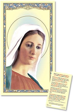 Our Lady of Medjugorje Laminated Holy Card