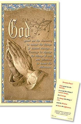Praying Hands Laminated Holy Card - 25/PK