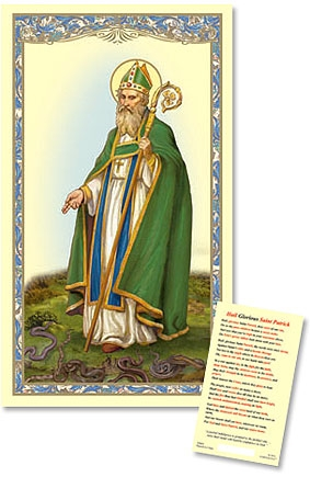 St. Patrick Laminated Holy Card - 25/pk