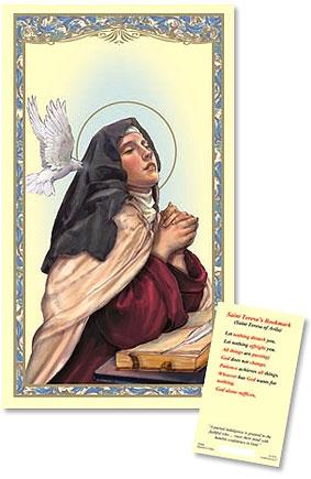 Saint Teresa of Avila Laminated Holy Card - 25/PK