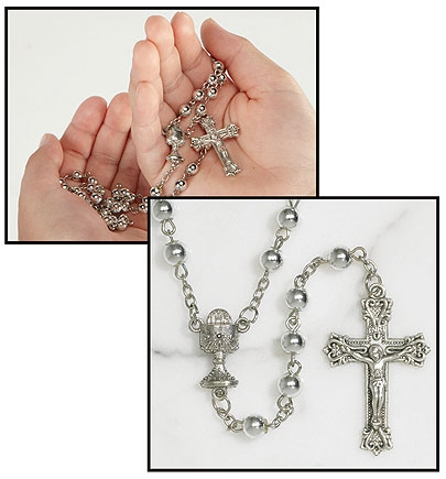 First Communion Rosary - 12/pk