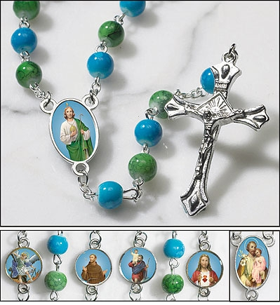 Saints for Boys Rosary - 4/pk