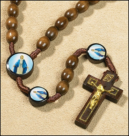 Our Lady Of Grace Devotional Cord Rosary