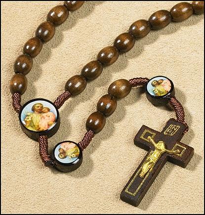 St. Joseph Devotional Cord Rosary - 12/pk