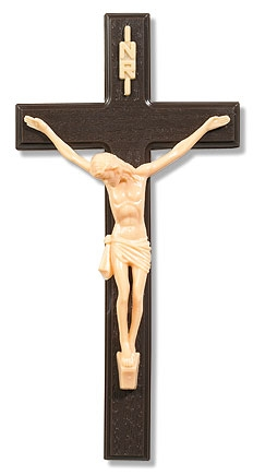 Woodtone Wall Crucifix - 12/pk