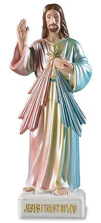 Divine Mercy Devotional Statue - 4/pk