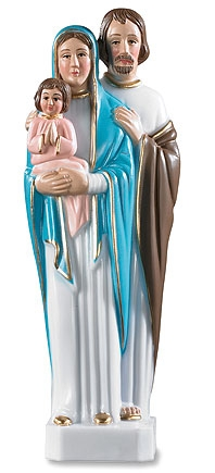 Holy Family Devotional Statue - 4/pk