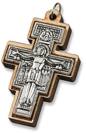 San Damiano Crucifix Pendant - 24/pk
