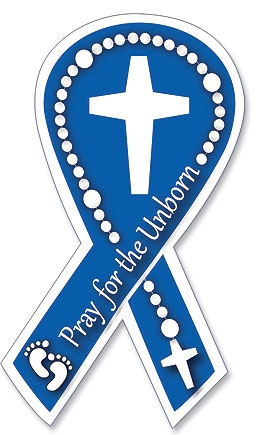 Pray for the Unborn Auto Magnet - 24/pk