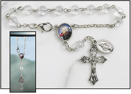 St. Christopher Rearview Mirror Rosary - 12/pk