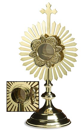 Smalll Monstrances - Removable Luna with Hinge
