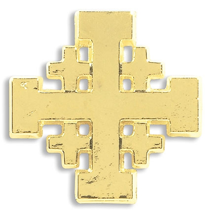 Jerusalem Cross Lapel Pin