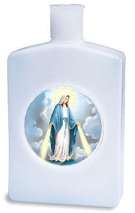 Our Lady of Grace Holy Water Bottle - 12/pk