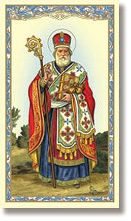St. Nicholas Holy Card - 100/pk