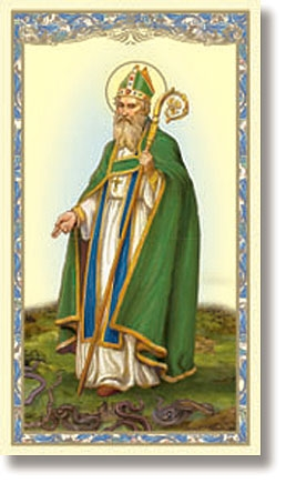 St. Patrick Holy Card - 100/pk
