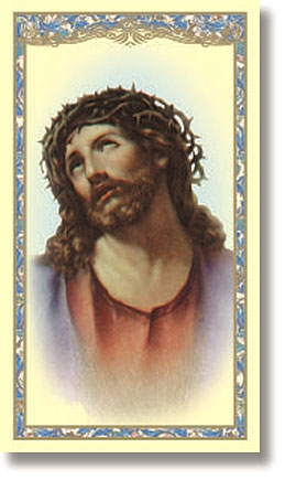 Head of Christ (Ecce Homo) Holy Card - 100/pk