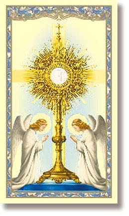 The Monstrance Holy Card - 100/pk