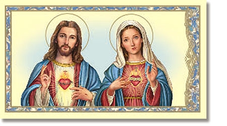 Sacred Hearts Holy Card - 100/pk