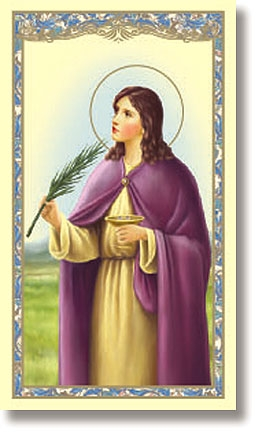 St. Lucy Holy Card - 100/pk