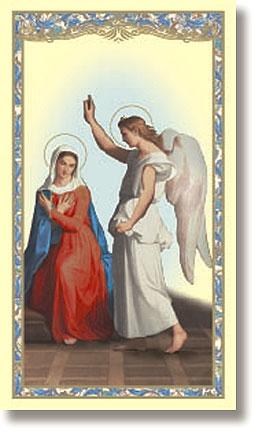 The Annunciation Holy Card - 100/pk