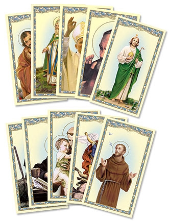 Men Saints Holy Card Assortment - 100