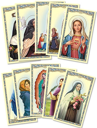 Women Saints / Madonnas Holy Card Assortment