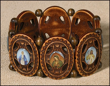 Ornate Devotional Saints Bracelet - 12/pk