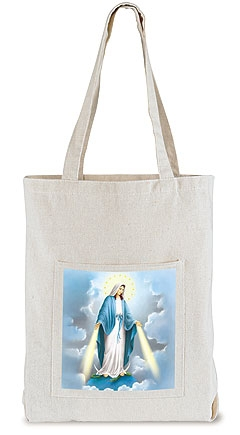 Our Lady of Grace Tote Bag with Pocket - 12/pk