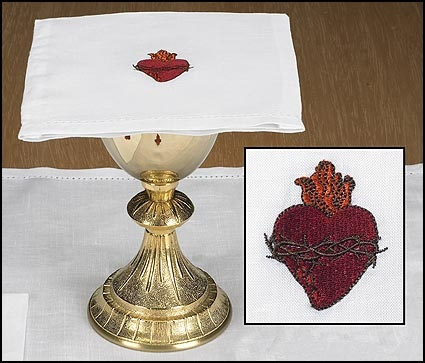 Sacred Heart Chalice Pall