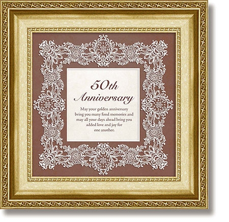50th Anniversary Framed Tabletop General Verse