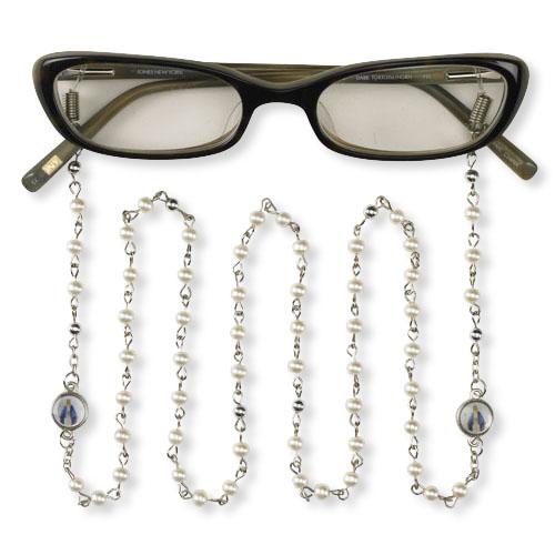Blessed Mother Beaded Eyeglass Chain - 12/pk