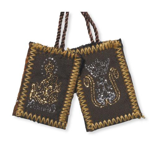 Brown Wool Scapular - 12/pk